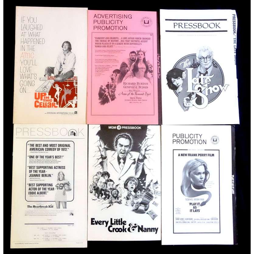 LOT 5 Dossiers de presse 28x43 - 1970's - Richard Burton, Eddie albert,