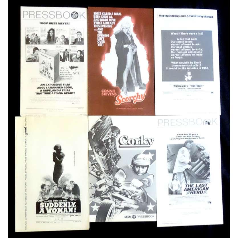 LOT 7 Dossiers de presse 28x43 - 1970's - Jeff Bridges, Connie Stevens, Woody Allen, Russ Meyer