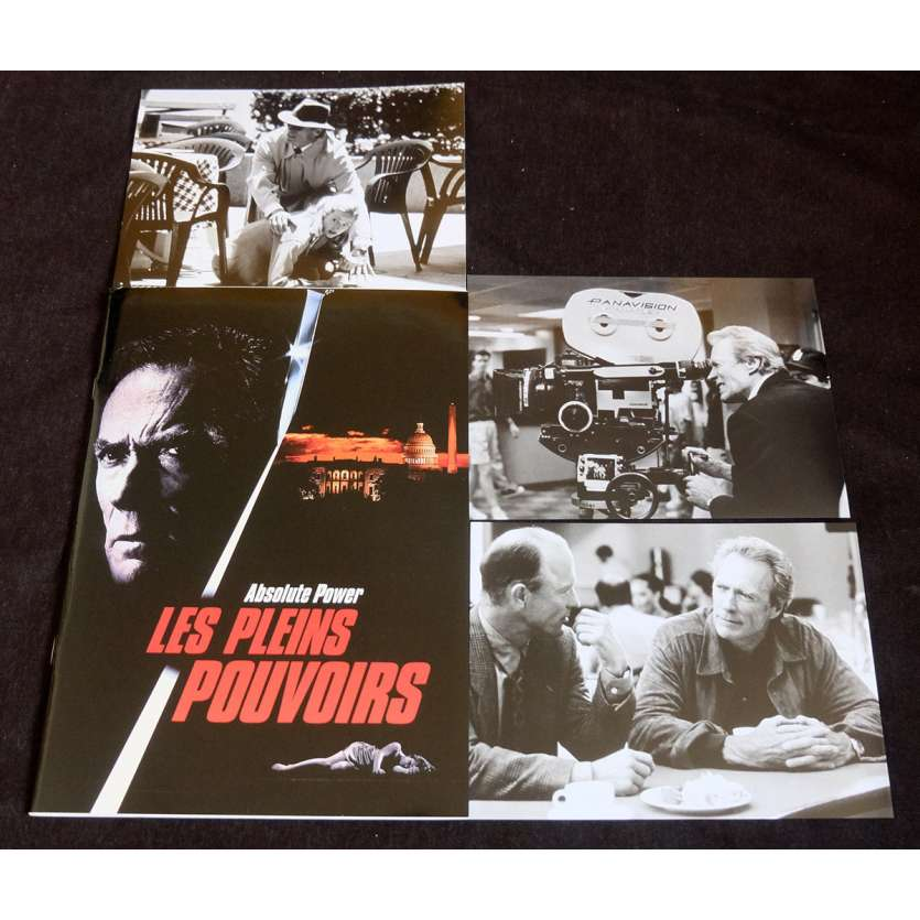 ABSOLUTE POWER French Pressbook 20p, 3 Stills 7x10 - 1997 - Clint Eastwood, Gene Hackman