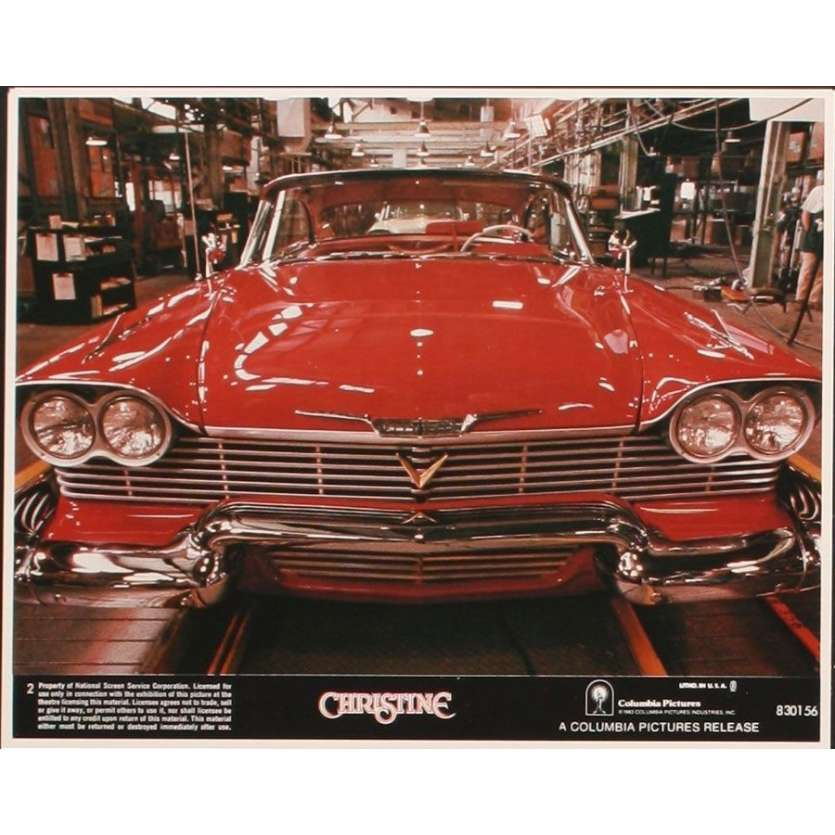 CHRISTINE 8 8x10 mini LCs '83 Stephen King, directed by John Carpenter, creepy possessed car!