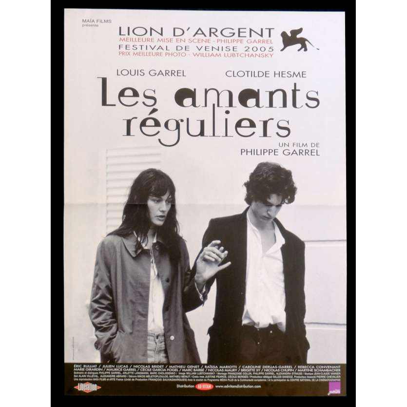 LES AMANTS REGULIERS Affiche de film 40x60 - 2015 - Louis Garrel, Philippe Garrel