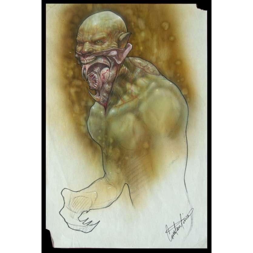 BLADE II (2002) Reaper Original Concept Art ! Guillermo del Toro