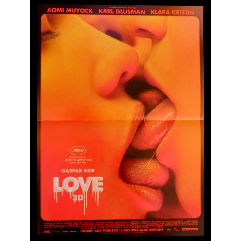 LOVE French Movie Poster 15x21 - 2015 - Gaspar Noe, Aomi Muyock