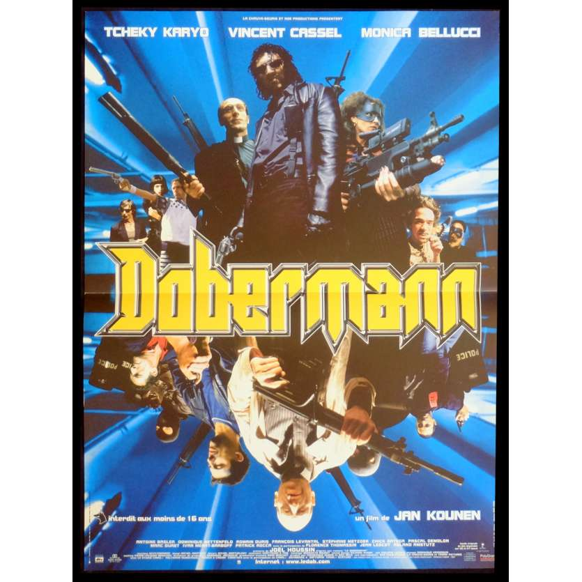 DOBERMAN French Movie Poster 15x21 - 1997 - Jan Kounen, Vincent Cassel