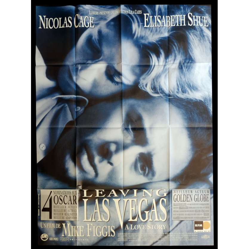 LEAVING LAS VEGAS French Movie Poster 47x63 - 1995 - Mike Figgis, Nicolas Cage