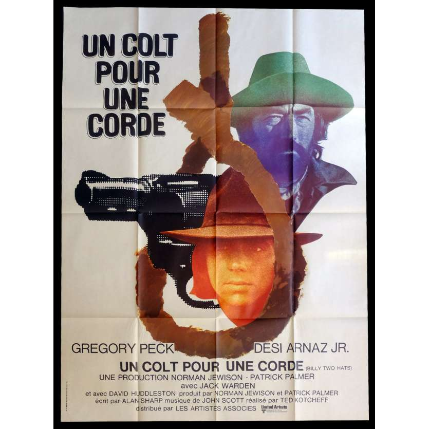 BILLY TWO HATS French Movie Poster 47x63 - 1974 - Ted Kotcheff, Gregory Peck