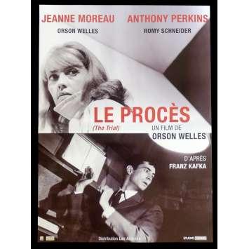 LE PROCES Affiche de film 40x60 - R2015 - Jeanne Moreau, Orson Welles