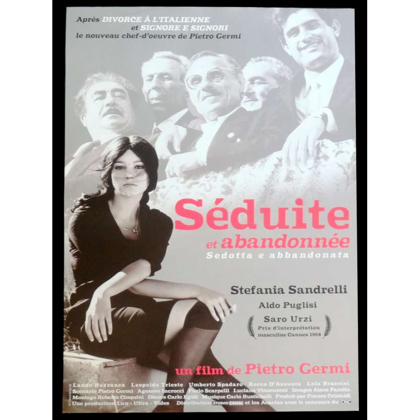 SEDUCED AND ABANDONNED French Movie Poster 15x21 - R2015 - Pietro Germi, Stefania Sandrelli