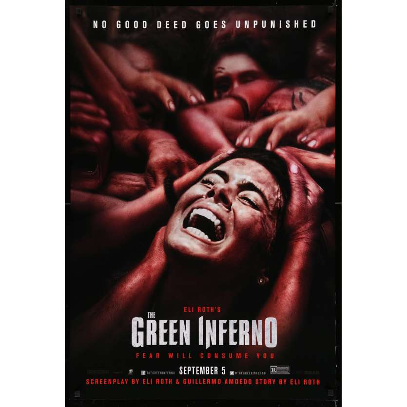 GREEN INFERNO US Movie Poster 29x40 - 2013 - Eli Roth, Lorenzo Izzo