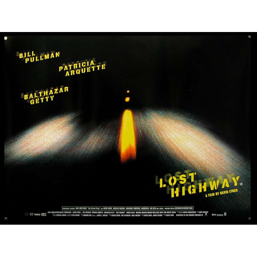 LOST HIGHWAY Affiche de film 76x101 - 1997 - Patricia Arquette, David Lynch