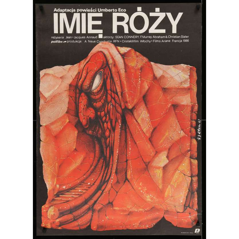 NAME OF THE ROSE Polish Movie Poster 27x38 - 1987 - Jean-Jacques Annaud, Sean Connery