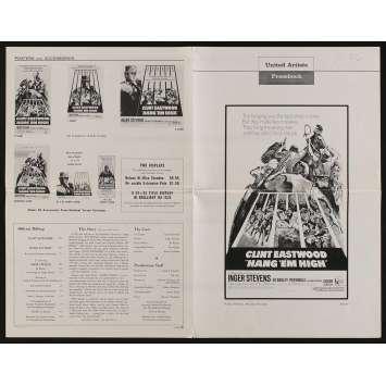HANG 'EM HIGH US Pressbook 6p 11x17 - 1968 - Ted Post, Clint Eastwood