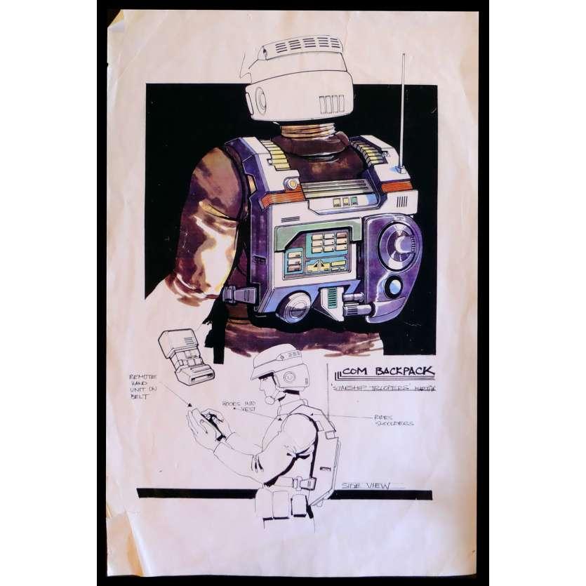 STARSHIP TROOPERS Storyboard de production Backpack 28x43 - 1995 - Denise Richards, Paul Verhoeven