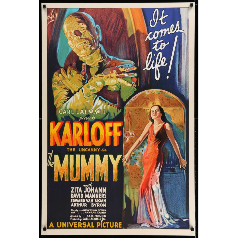THE MUMMY S2 Recreation Movie Poster 27x41 - 1999 - Karl Freund, Boris Karloff