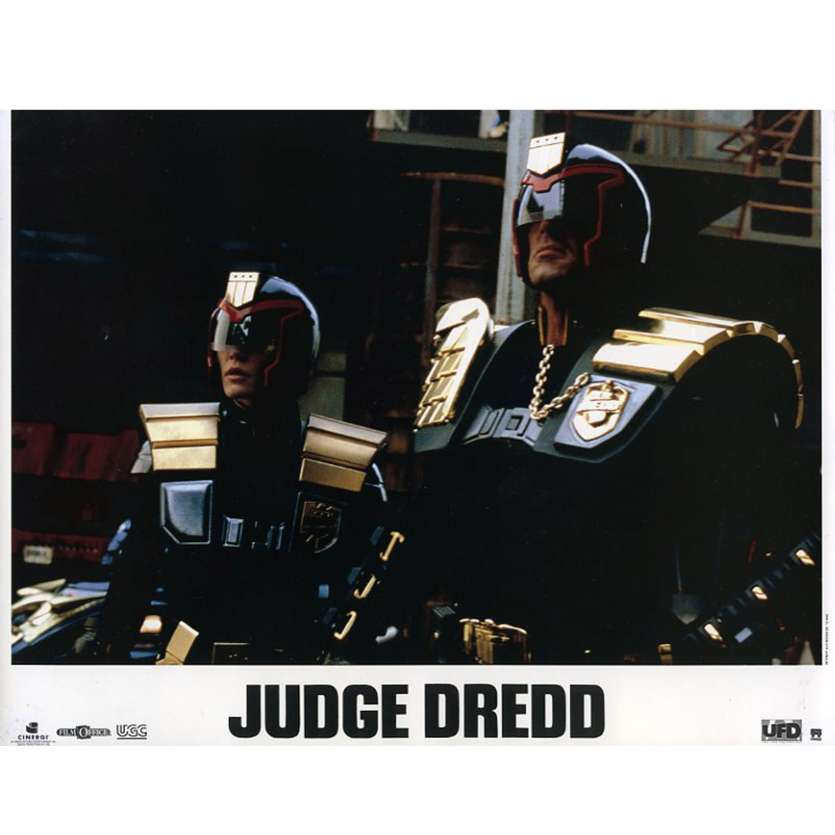 JUDGE DREDD French Lobby Card N3 9x12 - 1995 - Danny Cannon, Sylvester Stallone