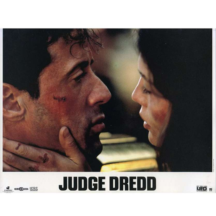 JUDGE DREDD French Lobby Card N1 9x12 - 1995 - Danny Cannon, Sylvester Stallone
