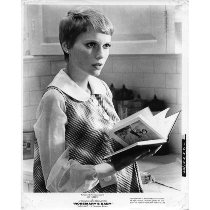 ROSEMARY'S BABY Photo de presse N2 20x25 - 1968 - Mia Farrow, Roman Polanski