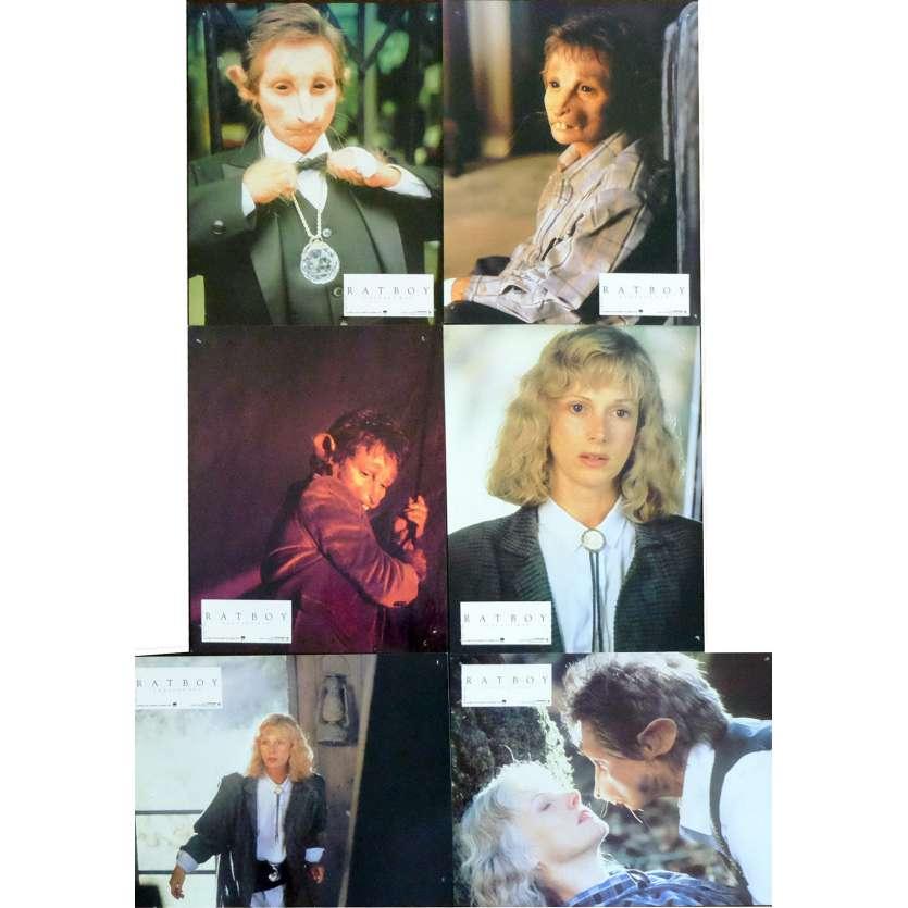 RATBOY French Lobby Cards x6 9x12 - 1986 - Sondra Locke, Robert Towshend