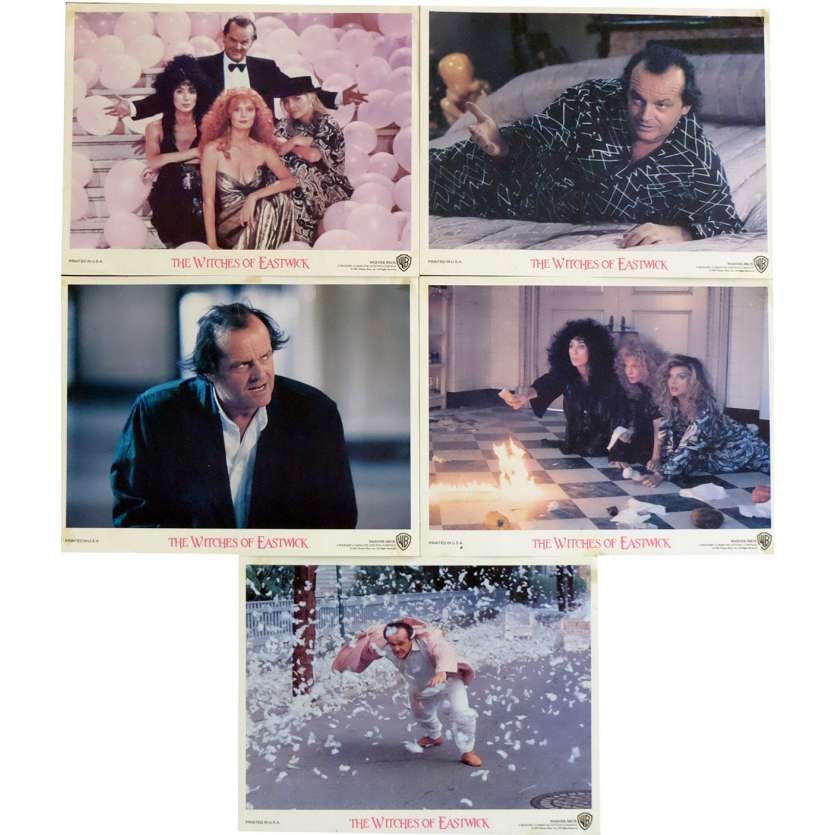 WITCHES OF EASTWICK US Lobby Cards x5 8x10 - 1987 - George Miller, Jack Nicholson