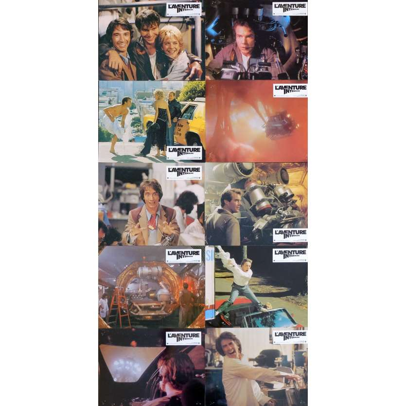 INNERSPACE French Lobby Cards X8 9x12 - 1987 - Joe Dante, Dennis Quaid