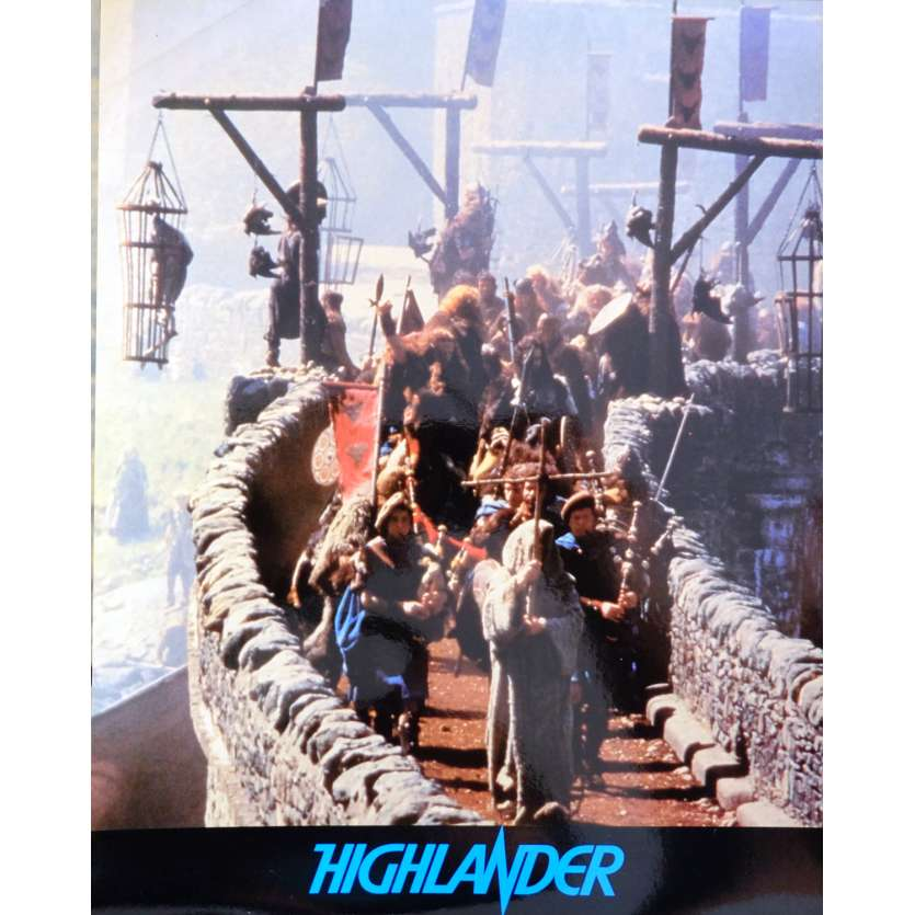 HIGHLANDER French Deluxe Lobby Card N6 10x12 - 1985 - Russel Mulcahy, Christophe Lambert