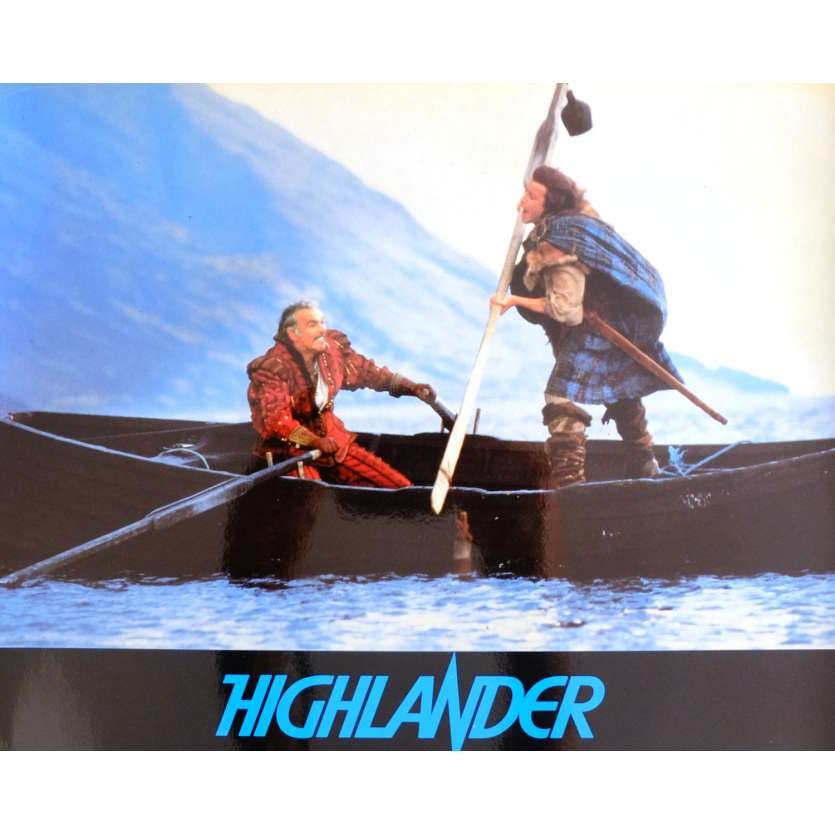 HIGHLANDER French Deluxe Lobby Card N5 10x12 - 1985 - Russel Mulcahy, Christophe Lambert