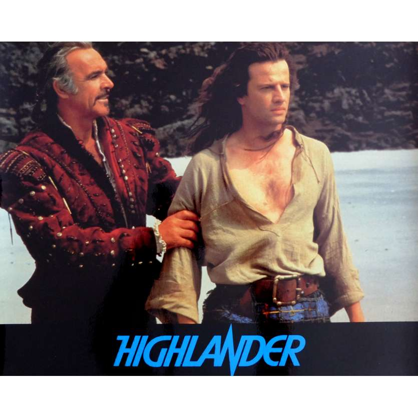 HIGHLANDER French Deluxe Lobby Card N4 10x12 - 1985 - Russel Mulcahy, Christophe Lambert