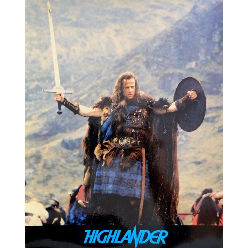 HIGHLANDER French Deluxe Lobby Card N1 10x12 - 1985 - Russel Mulcahy, Christophe Lambert