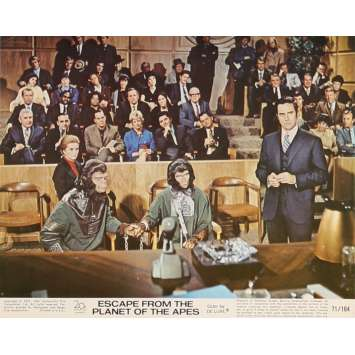 LES EVADES DE LA PLANETE DES SINGES Photo de film N8 20x25 cm - 1971 - Roddy McDowall, Don Taylor