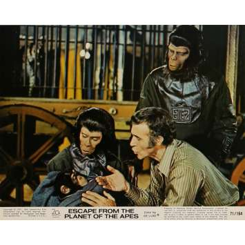 ESCAPE FROM THE PLANET OF THE APES Lobby Card N3 8x10 in. USA - 1971 - Don Taylor, Roddy McDowall