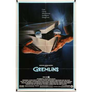 GREMLINS Movie Poster 29x41 in. USA - R1985 - Joe Dante, Zach Galligan