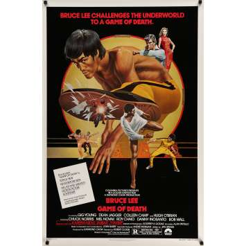GAME OF DEATH Movie Poster 29x41 in. USA - 1979 - Lo Wei, Bruce Lee