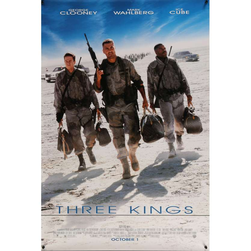 THREE KINGS Movie Poster 29x41 in. USA - 1999 - David O. Russel, George Clooney