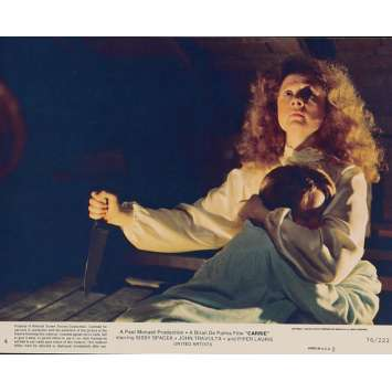 CARRIE Lobby Card N6 8x10 in. USA - 1976 - Brian de Palma, Sissy Spacek