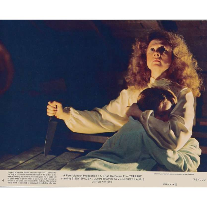 CARRIE Lobby Card N6 8x10 in. USA - 1976 - Brian de Palma, Sissy Spacek