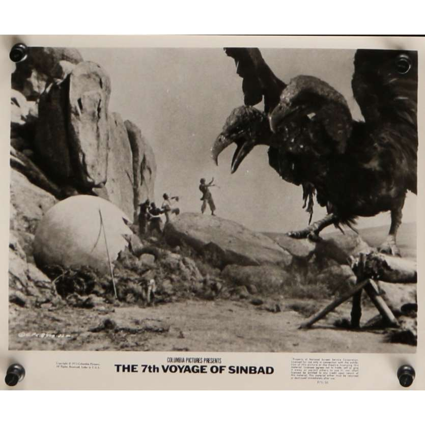 LE 7E VOYAGE DE SINBAD Photo de presse N7 20x25 cm - R1975 - Kervin Mathews, Ray Harryhausen