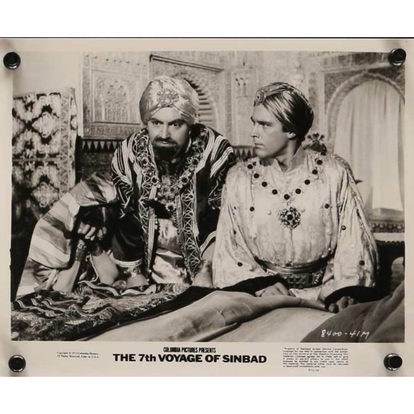 LE 7E VOYAGE DE SINBAD Photo de presse N4 20x25 cm - R1975 - Kervin Mathews, Ray Harryhausen