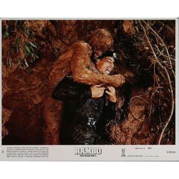 RAMBO FIRST BLOOD PART II Lobby Card N5 8x10 in. USA - 1985 - George P. Cosmatos, Sylvester Stallone