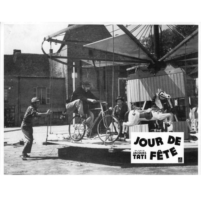 JOUR DE FETE Lobby Card N5 9x12 in. French - 1960'S - Jacques Tati, Paul Frankeur