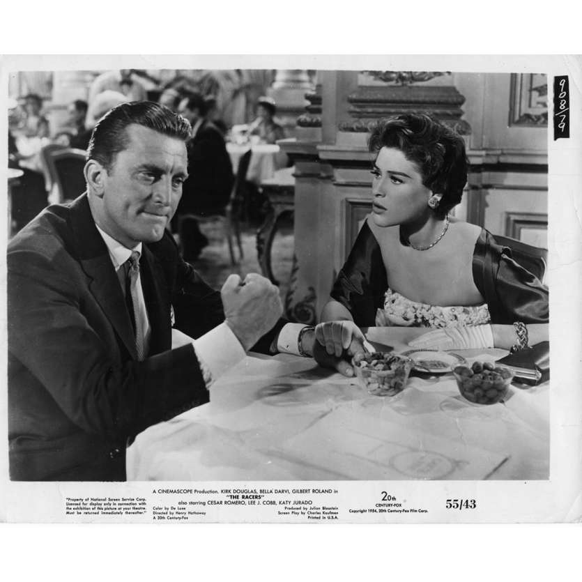 THE RACERS Movie Still 8x10 in. USA - 1955 - Henry Hathaway, Kirk Douglas