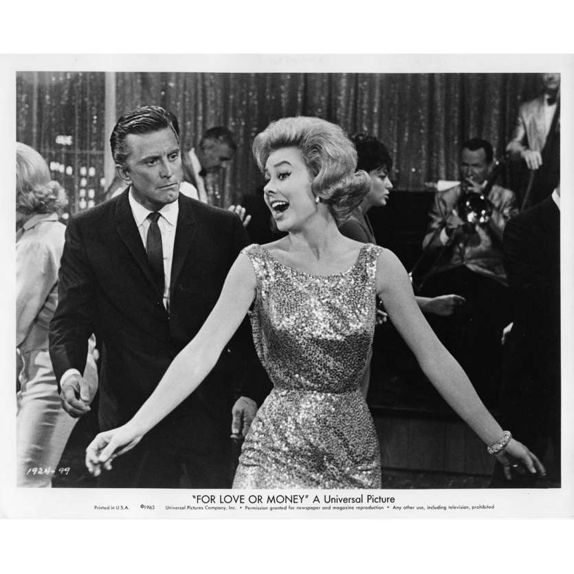 FOR LOVE OR MONEY Movie Still N3 8x10 in. USA - 1963 - Michael Gordon, Kirk Douglas
