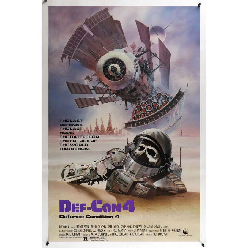 DEF-CON Movie Poster 29x41 in. USA - 1984 - Paul Donovan, Lenore Zann