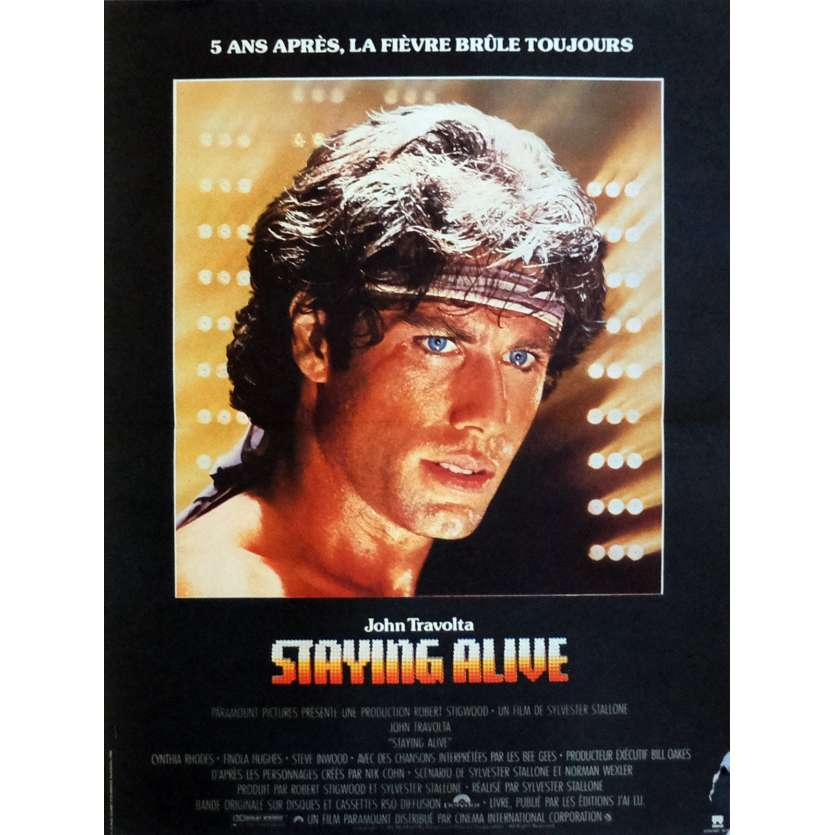 STAYING ALIVE Movie Poster 15x21 in. French - 1983 - Sylvester Stallone, John Travolta
