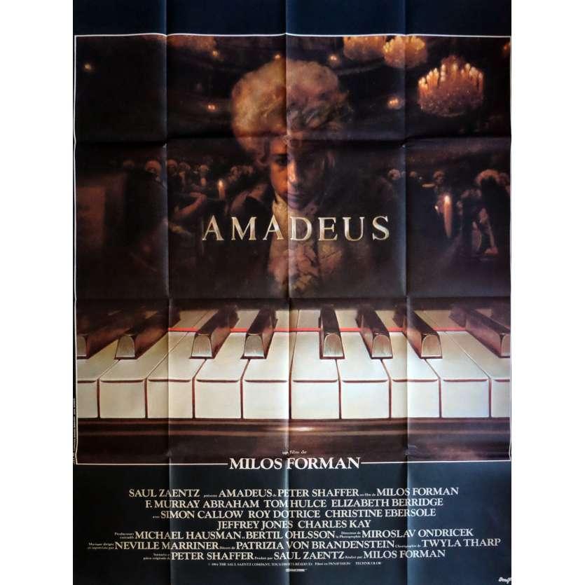 AMADEUS Affiche de film 120x160 cm - 1984 - F. Murrray Abraham, Milos Forman