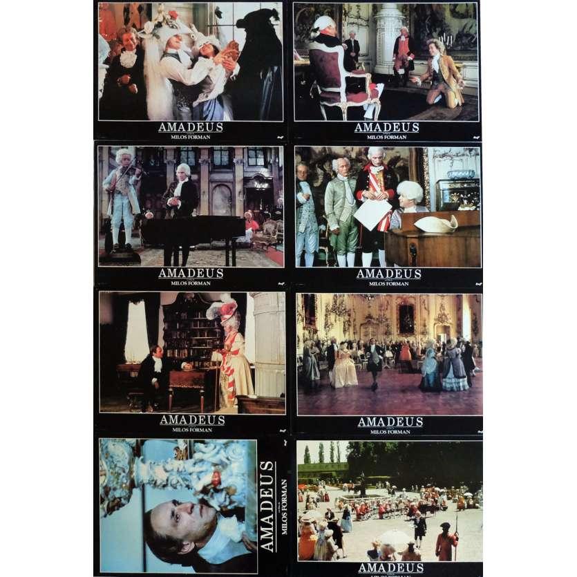 AMADEUS Lobby Cards 12x15 in. French - 1984 - Milos Forman, F. Murrray Abraham