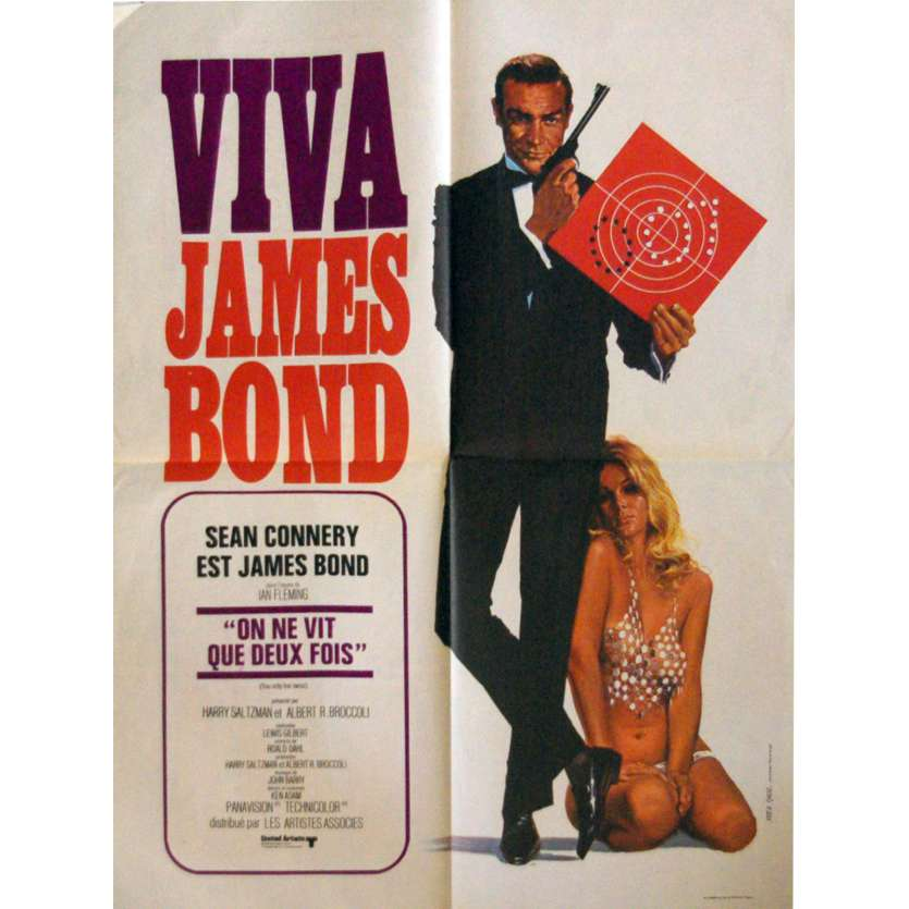 VIVA JAMES BOND - YOU ONLY LIVE TWICE French Movie Poster 23x32- 1970 - Lewis Gilbert, Sean Connery