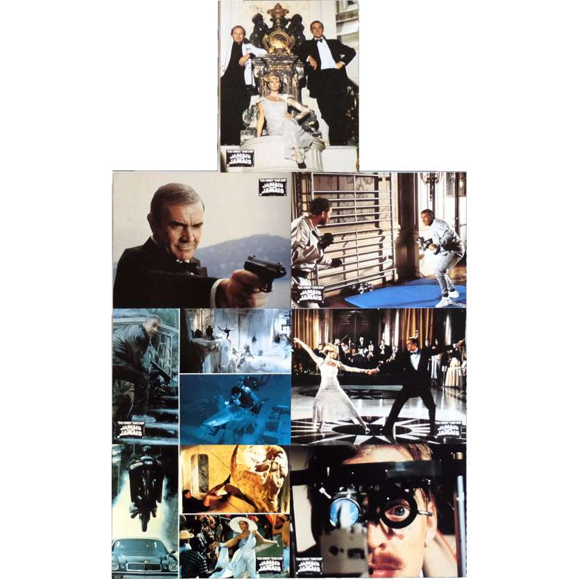 NEVER SAY NEVER AGAIN Lobby Cards x7 9x12 in. French - 1983 - Irvin Keshner, Sean Connery