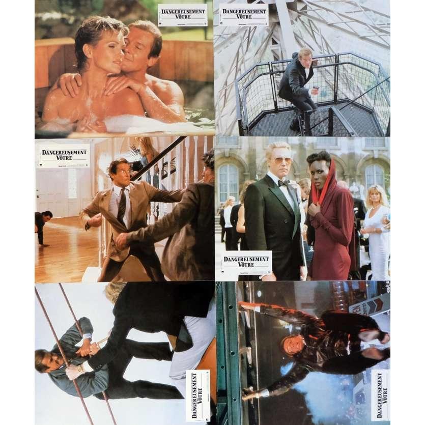 DANGEREUSEMENT VOTRE Photos de film x6 Jeu B 21x30 cm - 1985 - Roger Moore, John Glen