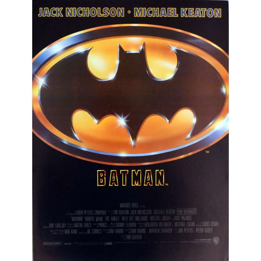BATMAN Herald 9x12 in. French - 1989 - Tim Burton, Jack Nicholson