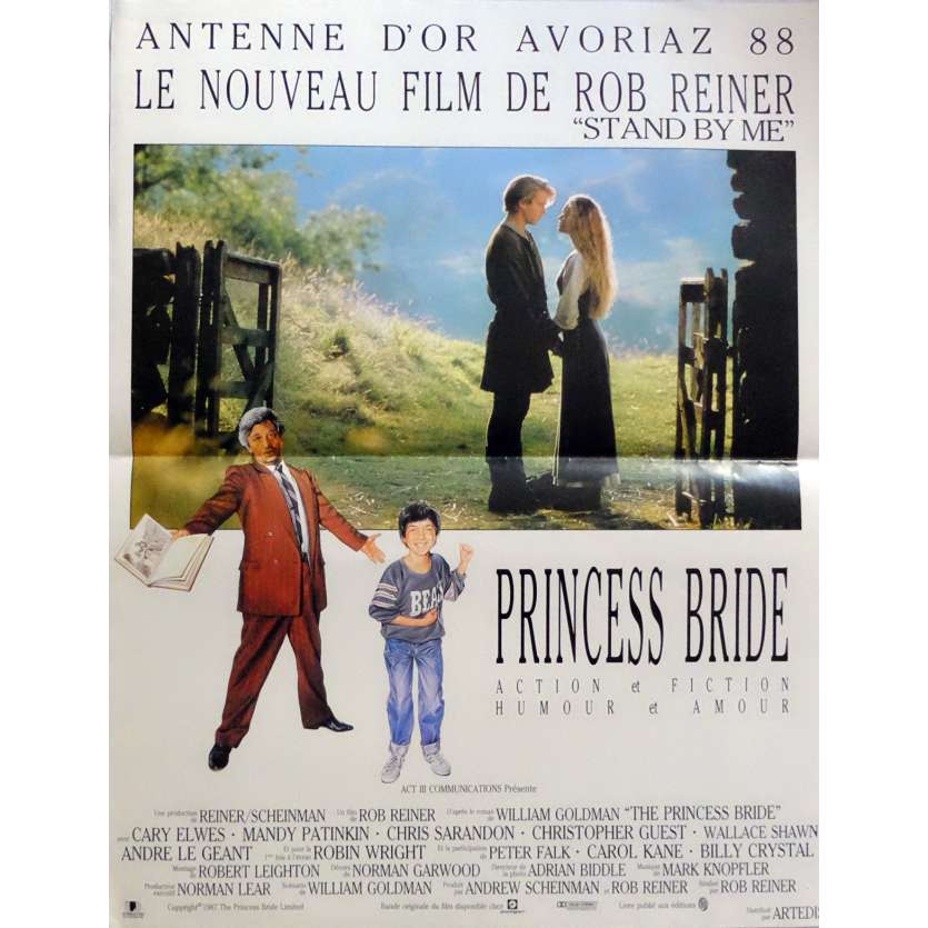THE PRINCESS BRIDE Movie Poster 15x21 in. French - 1987 - Rob Reiner, Robin Wright